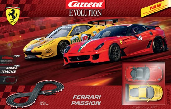 exclu circuit ferrari passion 1 24e carrera 25191 circuit voiture. Black Bedroom Furniture Sets. Home Design Ideas