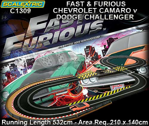 circuit fast furious scalextric c1309 sca c1309 circuit voiture. Black Bedroom Furniture Sets. Home Design Ideas